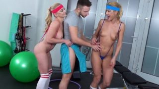 Fitness Rooms / Threesome after finishing fitness workout – Cherry Kiss
